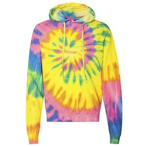PLUS Day Glo-ish Spiral Pullover Hooded Sweatshirt